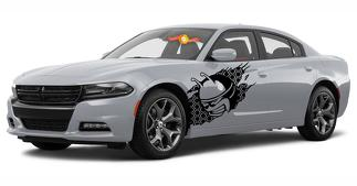 2 Dodge Charger Scat Pack Quarter Panel decals Vinyl Graphics 2011-2018