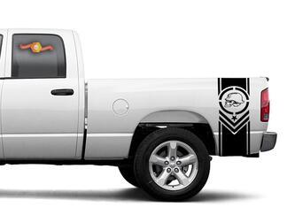 Metall Mulisha Bett Streifen Aufkleber passt Chevy Dodge Nissan Toyota Ford GMC etc.