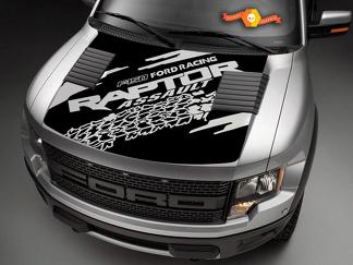 Ford F150 Raptor hood graphics tire track package hood decal sticker