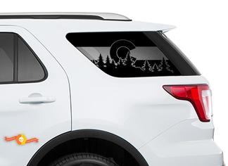 2011-2018 Ford Explorer - State of Colorado Flag Windshield Decals for Rear windows Stickers