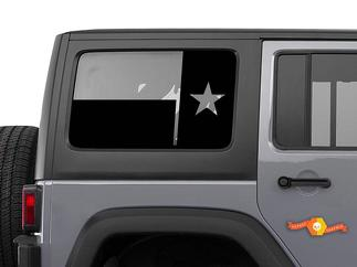State of Texas Flag Windshield decal - fits JKU Jeep wrangler 4 door Wrangler Window Stickers