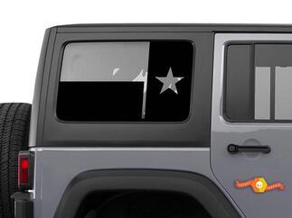 Windschutzscheiben-Aufkleber mit Flagge des Bundesstaates Texas - passend für JKU Jeep Wrangler 4-türige Wrangler-Fensteraufkleber