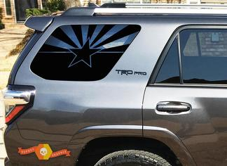 State of Arizona Flag Windshield Decal Fits 2010-2019 Toyota 4Runner TRD PRO Limited Stickers