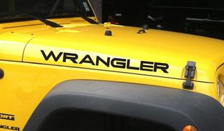 Jeep Wrangler YJ hood decals