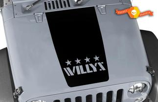 Jeep Willy's wrangler vintage logo vinyl decal hood sticker