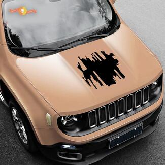 NEW 2015 2016 2017 2018 Jeep Hood Renegade Graphics  Decals