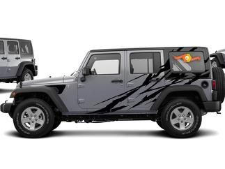 **NEW** Jeep Wrangler JL SLASH Graphics Decal Kit! 2018 2019 +