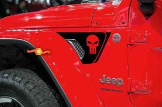 NEW Jeep Wrangler JL Rubicon Skull Fender Vent Decal Kit 2018+