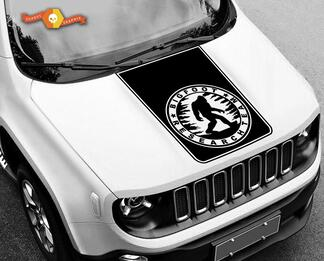 Jeep Renegade Yeti Big Foot Bigfoot Sasquatch Sides & Hood Decal Vinyl SUV Decal