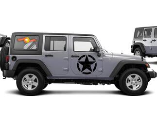 Army Star distressed decal fits Jeep large 20