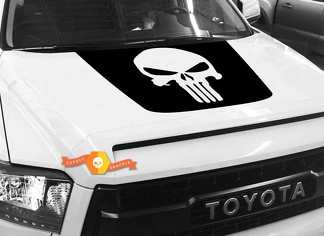 Big Punisher Skull Hood graphics decal for TOYOTA TUNDRA 2014 2015 2016 2017 2018 #2