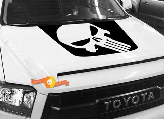 Punisher Skull Hood graphics decal for TOYOTA TUNDRA 2014 2015 2016 2017 2018 #4