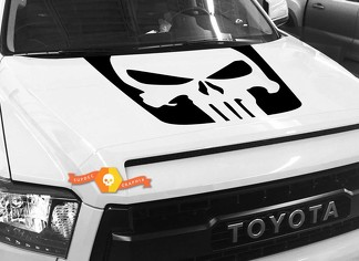 Punisher Skull Hood graphics decal for TOYOTA TUNDRA 2014 2015 2016 2017 2018 #5