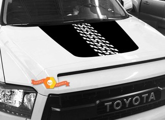 Tire Track Tread Protector Hood graphics decal for TOYOTA TUNDRA 2014 2015 2016 2017 2018 #6