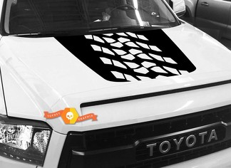 Huge Tire Track Tread Protector Hood graphics decal for TOYOTA TUNDRA 2014 2015 2016 2017 2018 #8