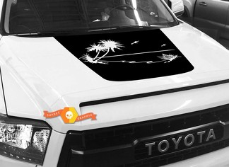 Palm Island Ocean Hood graphics decal for TOYOTA TUNDRA 2014 2015 2016 2017 2018