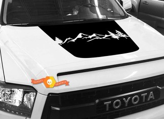 Mountains Forest  Hood graphics decal for TOYOTA TUNDRA 2014 2015 2016 2017 2018