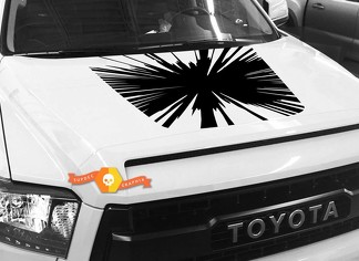 Big Bang Hood graphics decal for TOYOTA TUNDRA 2014 2015 2016 2017 2018