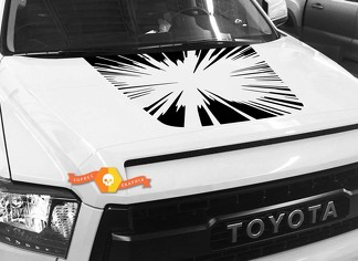 Big Bang Hood graphics decal for TOYOTA TUNDRA 2014 2015 2016 2017 2018 #1