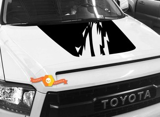 Hood graphics decal for TOYOTA TUNDRA 2014 2015 2016 2017 2018 #1