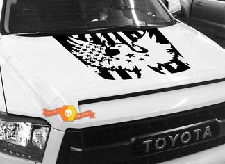 Bald Eagle USA FLAG Hood graphics decal for TOYOTA TUNDRA 2014 2015 2016 2017 2018 #1