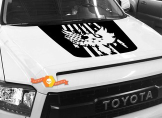 Bald Eagle USA FLAG Hood graphics decal for TOYOTA TUNDRA 2014 2015 2016 2017 2018 #2