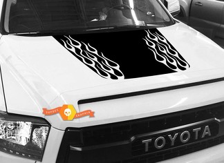 Hood Fire graphics decal for TOYOTA TUNDRA 2014 2015 2016 2017 2018 #7