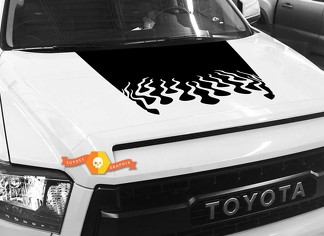 Hood Fire graphics decal for TOYOTA TUNDRA 2014 2015 2016 2017 2018 #8