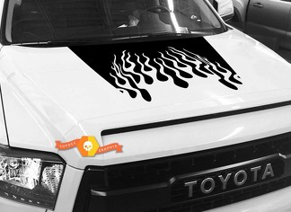 Hood Fire graphics decal for TOYOTA TUNDRA 2014 2015 2016 2017 2018 #10