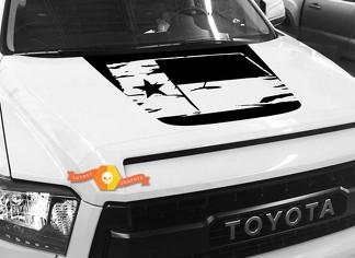 Hood Flag Texas Grafik Aufkleber für TOYOTA TUNDRA 2014 2015 2016 2017 2018 # 1