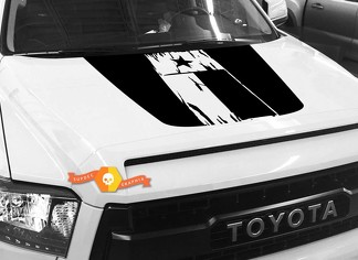 Hood Flag Texas graphics decal for TOYOTA TUNDRA 2014 2015 2016 2017 2018 #2