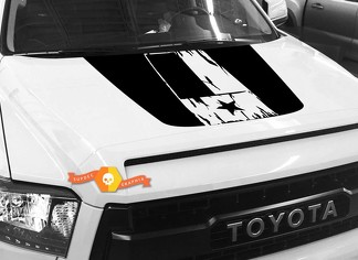 Hood Flag Texas graphics decal for TOYOTA TUNDRA 2014 2015 2016 2017 2018 #3