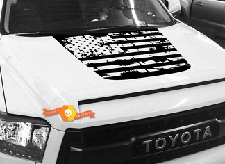 Hood USA Distressed Flag Grafik Aufkleber für TOYOTA TUNDRA 2014 2015 2016 2017 2018 2018 # 1