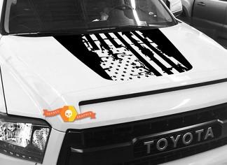 Hood USA Distressed Flag Grafik Aufkleber für TOYOTA TUNDRA 2014 2015 2016 2017 2018 # 2