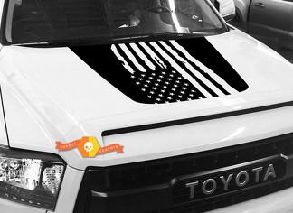 Hood USA Distressed Flag Grafik Aufkleber für TOYOTA TUNDRA 2014 2015 2016 2017 2018 # 3