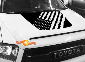 Hood USA Distressed Flag Grafik Aufkleber für TOYOTA TUNDRA 2014 2015 2016 2017 2018 # 4