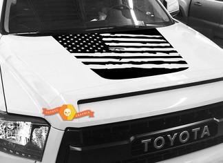 Hood USA Distressed Flag Grafik Aufkleber für TOYOTA TUNDRA 2014 2015 2016 2017 2018 # 5