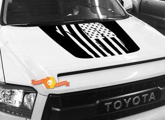 Hood USA Distressed Flag Grafik Aufkleber für TOYOTA TUNDRA 2014 2015 2016 2017 2018 2018 # 7