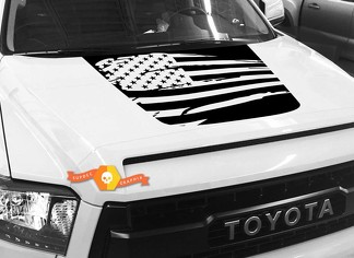 Hood USA Distressed Flag graphics decal for TOYOTA TUNDRA 2014 2015 2016 2017 2018 #8