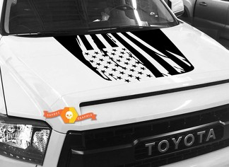 Hood USA Distressed Flag graphics decal for TOYOTA TUNDRA 2014 2015 2016 2017 2018 #9