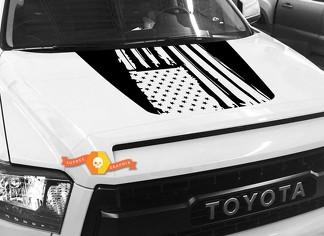 Hood USA Distressed Flag Grafik Aufkleber für TOYOTA TUNDRA 2014 2015 2016 2017 2018 # 21