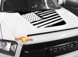 Hood USA Distressed Flag Grafik Aufkleber für TOYOTA TUNDRA 2014 2015 2016 2017 2018 2018 # 22