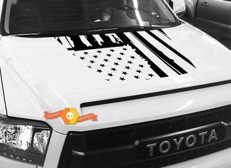 Hood USA Distressed Flag Grafik Aufkleber für TOYOTA TUNDRA 2014 2015 2016 2017 2018 2020 # 26