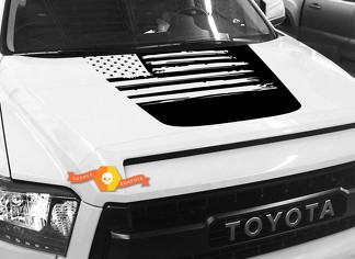 Hood USA Distressed Flag graphics decal for TOYOTA TUNDRA 2014 2015 2016 2017 2018 #27