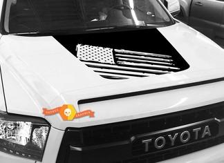 Hood USA Distressed Flag graphics decal for TOYOTA TUNDRA 2014 2015 2016 2017 2018 #28