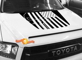 Hood USA Distressed Punisher Flag Grafik Aufkleber für TOYOTA TUNDRA 2014 2015 2016 2017 2018 # 32