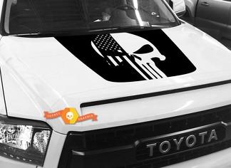 Hood USA Distressed Punisher Flag Grafik Aufkleber für TOYOTA TUNDRA 2014 2015 2016 2017 2018 # 33