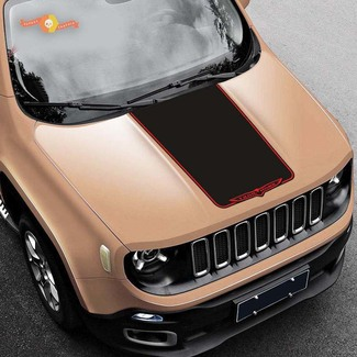 2015-2019 Jeep Renegade Trailhawk Vinyl Hood Decal Sticker Graphic Stripe
