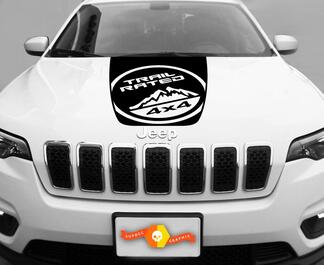 2014-2017 Jeep Cherokee Trail Rated Sport Vinyl Hood Decal Sticker Graphic 2