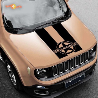2015-2019 Rally Distressed star Renegade Jeep vinyl hood decal Graphic